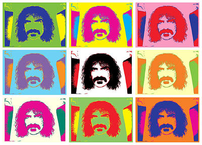 Music Drawing - Frank Zappa by Brian King