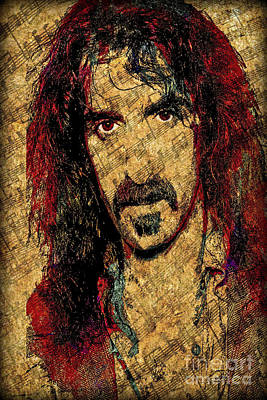 Frank Zappa Print by Gary Keesler