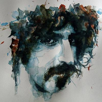 Singer Songwriter Painting - Frank Zappa by Paul Lovering