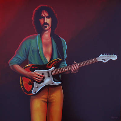 Composer Painting - Frank Zappa by Paul Meijering
