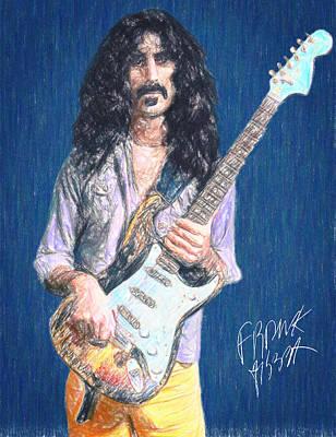 Crayons Drawing - Frank Zappa by Taylan Soyturk