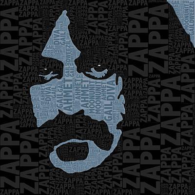 Eyes Mixed Media - Frank Zappa  by Tony Rubino
