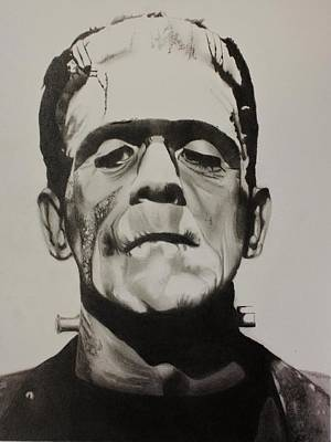 Frankenstein Drawing - Frankenstein  by Brian Broadway