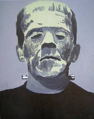 Frankenstein Painting - Frankenstein by Dan Twyman