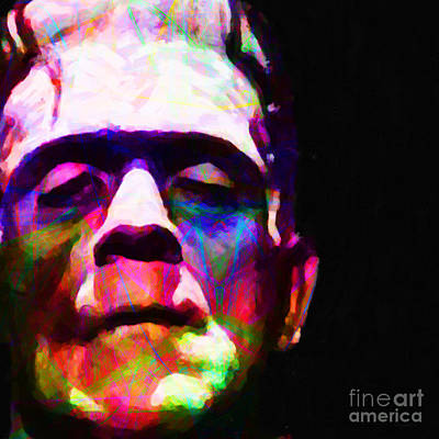 Haunted Digital Art - Frankenstein Fractal Square by Wingsdomain Art and Photography