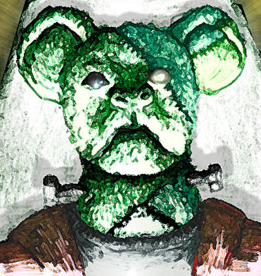 Frankenstein Drawing - Frankenstein's Koala by Del Gaizo