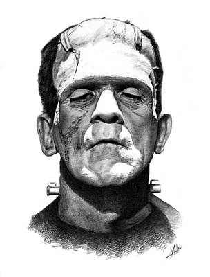 Frankenstein Drawing - Frankensteins Monster by Christian Klute