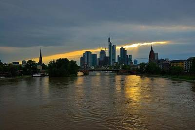 Frankfurt Sunset Print by Steven Richman