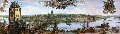 The Beginning Painting - Frankfurt's Vorstadt Of Sachsenhausen by Celestial Images