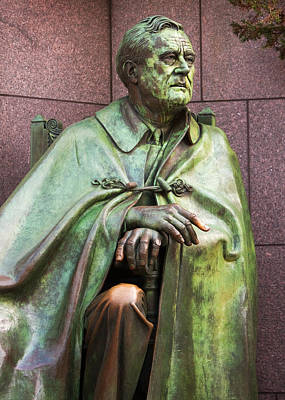 Potus Photograph - Franklin Delano Roosevelt Memorial Detail by John Cardamone