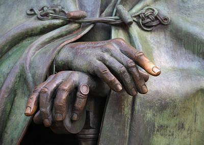 Potus Photograph - Franklin Delano Roosevelt Memorial Hands Detail by John Cardamone