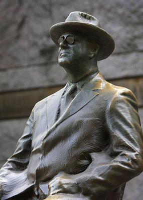 Potus Photograph - Franklin Delano Roosevelt Memorial With Glasses Detail by John Cardamone