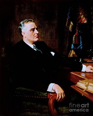 Liberal Painting - Franklin Delano Roosevelt by Pg Reproductions
