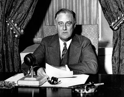 Franklin Delano Roosevelt Print by Unknown