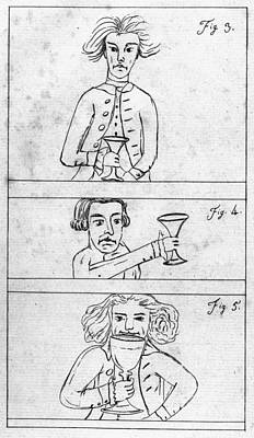 Benjamin Franklin Drawing - Franklin Drinking by Granger