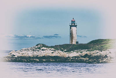 Franklin Island Lighthouse Print by Karol Livote