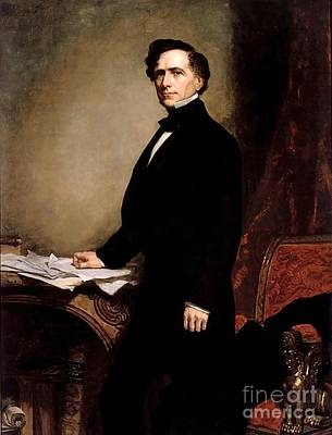 Franklin Painting - Franklin Pierce by GPA Healy
