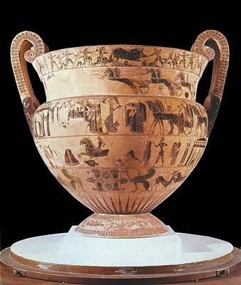 Ceramics Photograph - Fran�ois Vase. 570 Bc. Black-figure by Everett