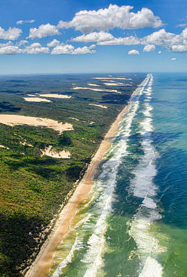 Aerial View Photograph - Fraser Island. Queensland Australia by Rob Huntley