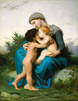 William-adolphe Bouguereau Painting - Fraternal Love by William-Adolphe Bouguereau