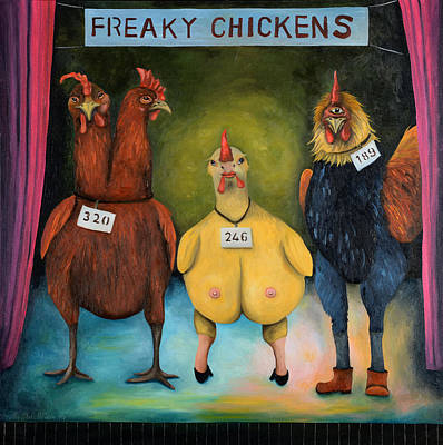 Cyclops Painting - Freaky Chicken Competition  by Leah Saulnier The Painting Maniac