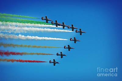 Frecce Tricolori Aerobatics Team Print by Stefano Senise