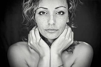 Portrait Photograph - Freckles by Oren Hayman