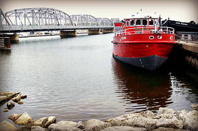 Fred A Busse City Of Chicago Fireboat Sturgeon Bay Print by Carol Toepke