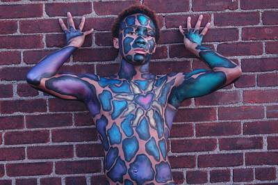 Erotic Photograph - Fred Body Painting by RoByn Thompson