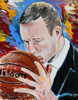 Painting - Fred Hoiberg  by Jon Baldwin  Art