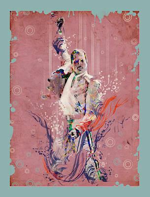 Must Art Painting - Freddie Mercury 11 by Bekim Art