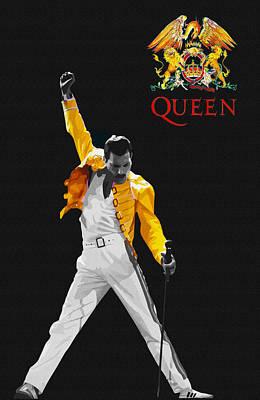 Taylor Swift Digital Art - Freddie Mercury Live In Wembley1986    by Don Kuing