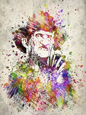 Freddy Krueger In Color Print by Aged Pixel