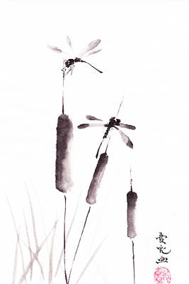 Free As The Dragonflies Print by Oiyee At Oystudio