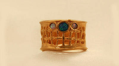 Statement Ring Jewelry - Free Shipping Gold Filled And Opal Ring by Batya Salomon