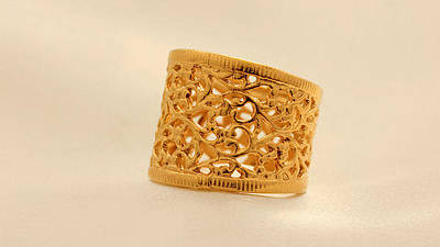 Statement Ring Jewelry - Free Shipping Gold Lace Ring by Batya Salomon