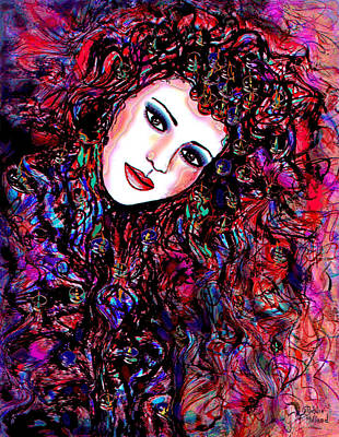 Fabric Mixed Media - Free Spirit by Natalie Holland