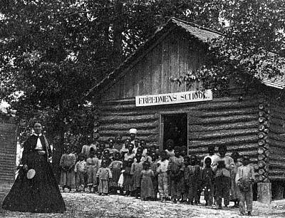 Freedmen School, C1867 Print by Granger