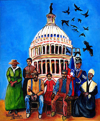 Jacob Lawrence Mixed Media - Freedom - Celebrating Juneteenth by Everett Spruill