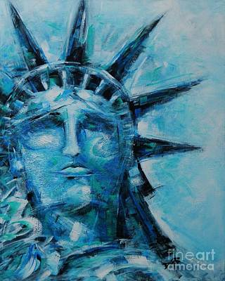 Americas Freedom Icon Painting - Freedom Cry by Dan Campbell