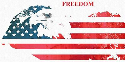Democracy Mixed Media - Freedom by Dan Sproul