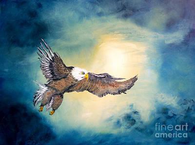 American Eagle Painting - Freedom Flyer by Ayasha Loya Aka Pari  Dominic