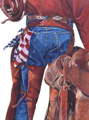 Chaps Painting - Freedom by JK Dooley