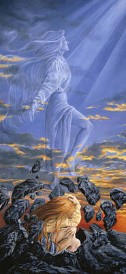 Spiritual Being Painting - Freedom by Lucie Bilodeau