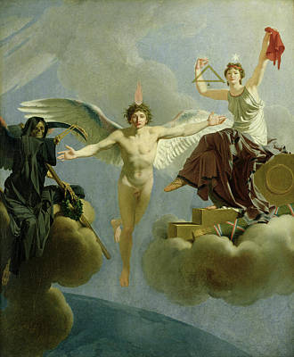 Freedom Or Death, 1794-95 Oil On Canvas Print by Jean-Baptiste Regnault