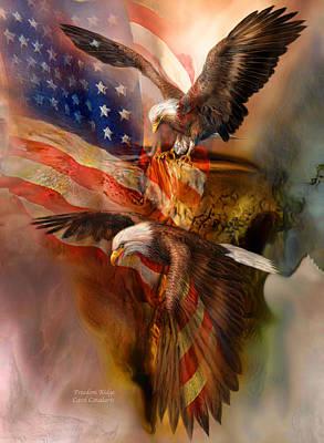 Freedom Mixed Media - Freedom Ridge by Carol Cavalaris