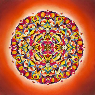 Twin Flame Painting - Freedom - Sacral Chakra Mandala by Vikki Reed