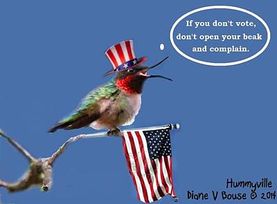Freedom To Choose Print by Diane V Bouse