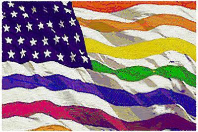 American Flag Mixed Media - Freedom by Tony Rubino