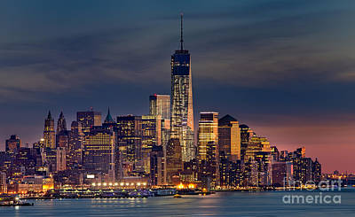 Freedom Tower Construction End Of 2013 Print by Jerry Fornarotto